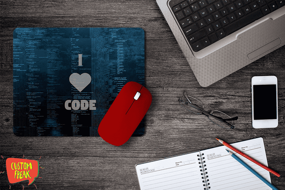 I Love Code - Coder - Mouse Pad