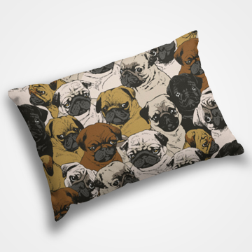 Pug Pattern - Pillow Cover
