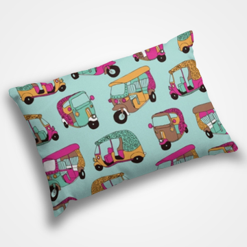 Rickshaw Pattern - Pillow Cover