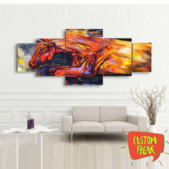 Horse Abstract - Set Of 5 - Wall Hangings