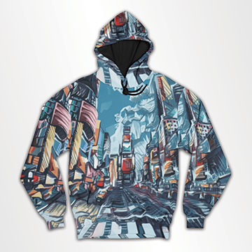 City Abstract  -All Over Hoodie & Sweatshirt