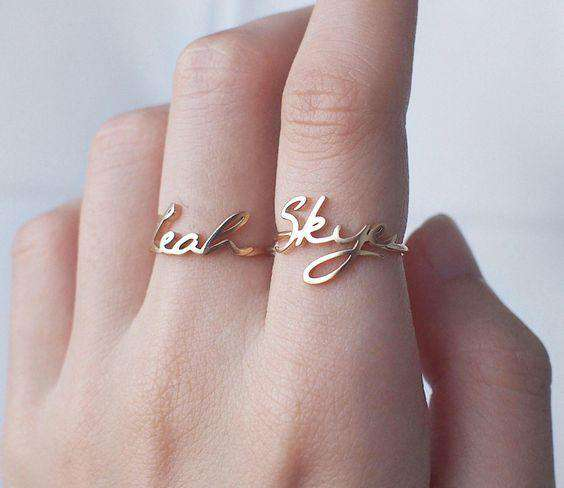 Couple Ring - 2 - Ring With 1 Name