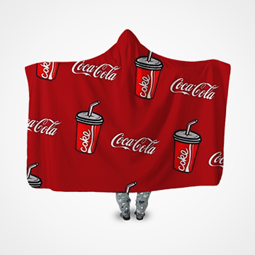 Coca Cola Collage - Hooded Blanket