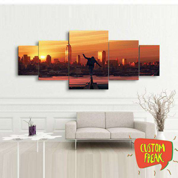Living On The Edge - Set Of 5 - Wall Hangings