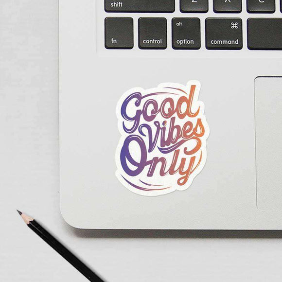 Good Vibes Only - Cutout Sticker