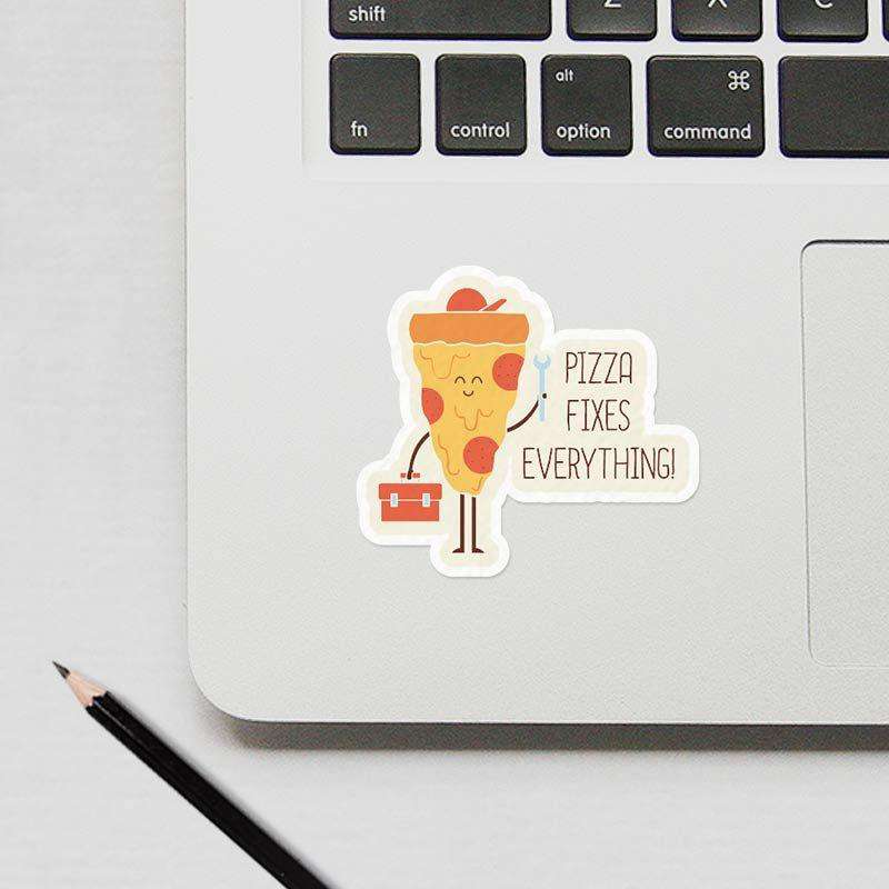 Pizza Fix Everything - Cutout Sticker