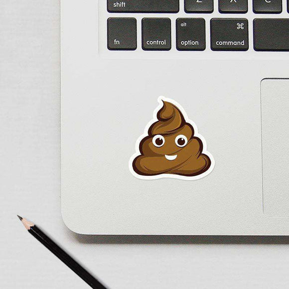 Poop Emoji - Cutout Sticker