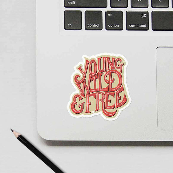 Young Wild And Free - Cutout Sticker
