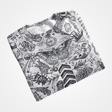 Funky Collage  - All Over Printed T-Shirts