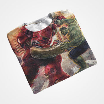 Ironman Vs Hulk - Avengers  - All Over Printed T-Shirts