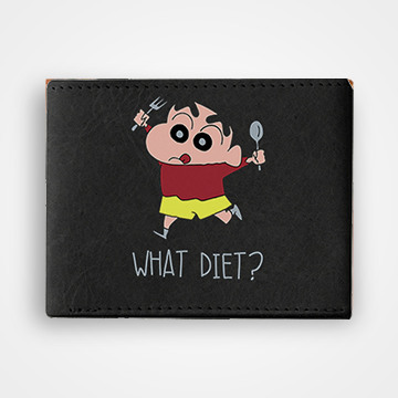 What Diet - Graphic Printed Wallets