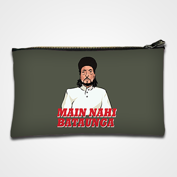 Main Nahi Bataunga - Laddan Jaffery - Zipper pouch