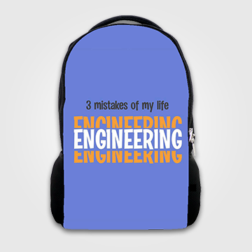 3 Mistakes Of My Life Engineering - Backpack