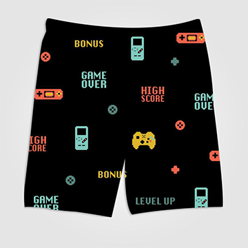Gaming Console Classic Pattern - All Over Printed Shorts