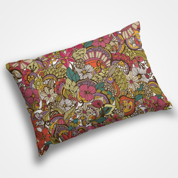 Abstarct Desi Floral - Pillow Cover - Custom Freaks