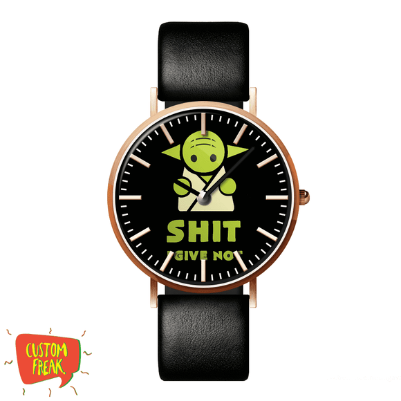 Shit I Dont Give - Yoda - Wrist Watch
