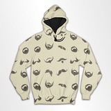 Mustache and Beard Collage - All Over Hoodie & Sweatshirt