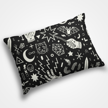 Funky Magic Collage - Pillow Cover