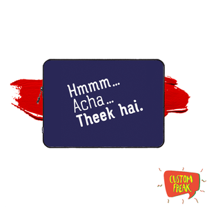 Hmm Acha Theek Hai - Zakir Khan - Laptop & Tablet Sleeve