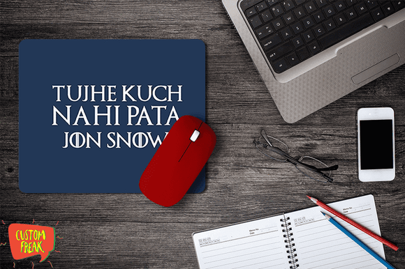 You Know Nothing Jon Snow - Game Of Thrones - Mouse Pad