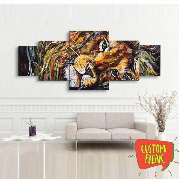 Lion - Set Of 5 - Wall Hangings