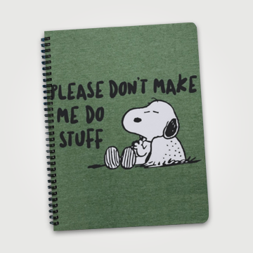Please Dont Make Me Do Stuff - Notebook