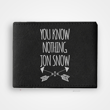 You Know Nothing Jon Snow - Graphic Printed Wallets