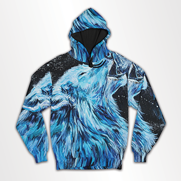 Wolf Abstract- All Over Hoodie & Sweatshirt