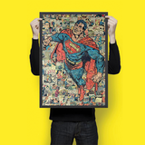 Superman Collage - Wall Hangings