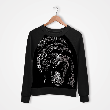King Kong Abstract - Digital Printed Sweat Shirt