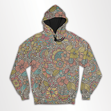 Abstract Floral - All Over Hoodie & Sweatshirt - Custom Freaks