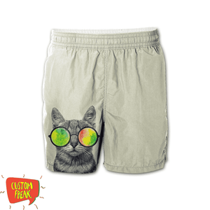 Cool Cat - Graphic Printed Shorts
