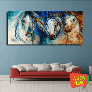 Three Horses - Set Of 3 - Wall Hangings