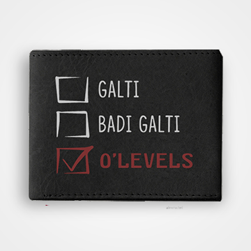 Ghalti Badi Ghalti O Levels- Graphic Printed Wallets