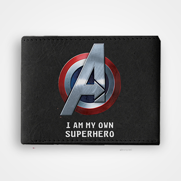I Am My Own Superhero - Graphic Printed Wallets