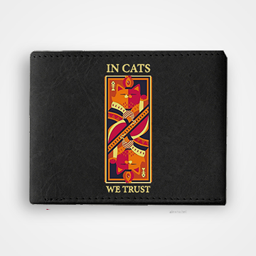 In Cats We Trust - Graphic Printed Wallets