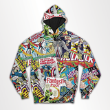 Marvel Comic - All Over Hoodie & Sweatshirt