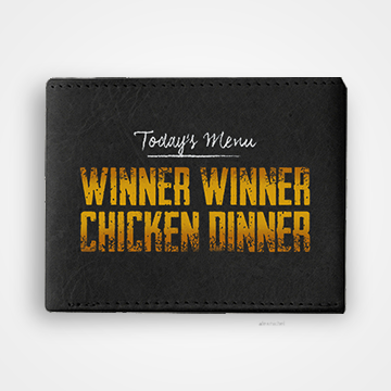 PUBG - Winner Winner Chicken Dinner - Graphic Printed Wallets