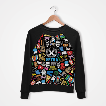 DFTBA Collage - Digital Printed Sweat Shirt