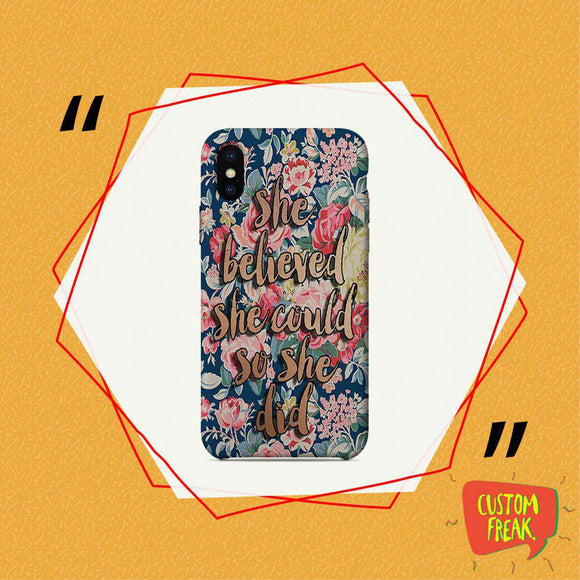 She Believed She Could So She Did - Cell Cover - Cell Cover