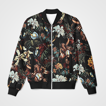 Floral Collage  - Bomber Jacket