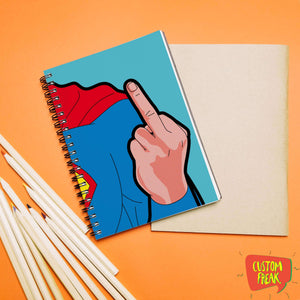 Superman Funny Comic - Notebook
