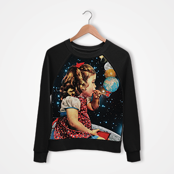 Girl In Space - Digital Printed Sweat Shirt