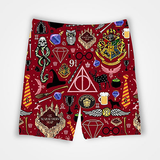 Hogwarts Pattern - Harry Potter - All Over Printed Shorts