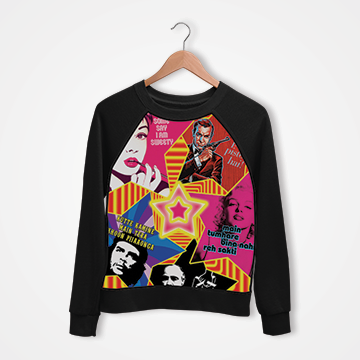 Movie Collage - Digital Printed Sweat Shirt