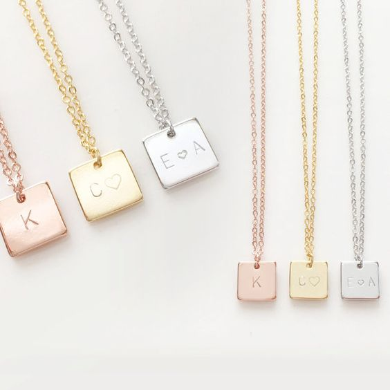 Square Engrave - Necklace