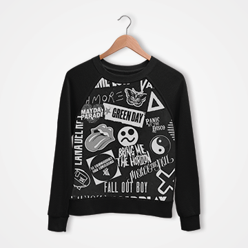 Funky Collage - Digital Printed Sweat Shirt