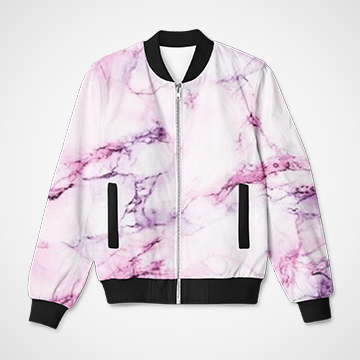 Pink Marble Pattern - Bomber Jacket
