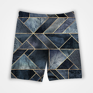 Marble Gradient - All Over Printed Shorts