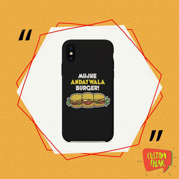 Ande wala Burger - Cell Cover - Custom Freaks